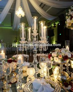 beautiful hurrican candelabra 5 arms crystal table candelabras for wedding decoration