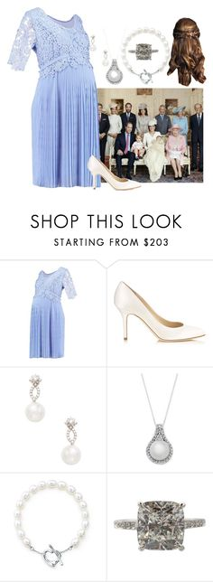 """HRH Rosalie of Burgundy attending Princess Adriana's Christening"" by kingdomofnorden ❤ liked on Polyvore featuring Été Swim, Jimmy Choo, Inner Circle Jewelry and Elsa Peretti"