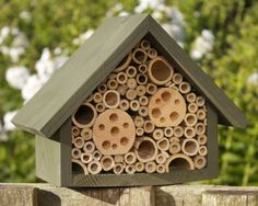 Bee Hotel Mason Bee House Large in 'Old English Green'. by Wudwerx