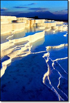 Pammukale Turkey - natural calcium cliffs and baths. One of the most amazing places in the world.