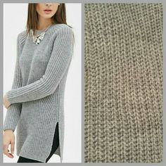 Grey Sweater Worn once. In good condition. It's too big on me. Material: 80% acrylic, 20% wool. Sweaters Crew & Scoop Necks