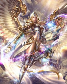 Mithra II ,  by Yan Can  ,  LiKStudios  ,  card illustration for Reign of Dragons , http://reignofdragons.wikia.com/wiki/Venusia