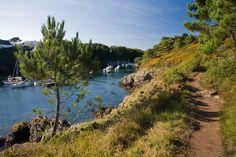 sentier côtier à Moëlan-sur-Mer en Finistère sud, Bretagne