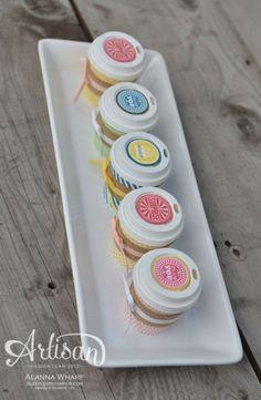 Artisan Wednesday Wow ~ Mini Coffee Cups | SleeplessStamper.com