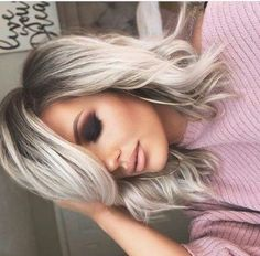 51 Ideas hair balayage straight girl hairstyles - September 28 2019 at Blonde Hair With Roots, Silver Blonde Hair, Blonde Hair With Color, Platinum Blonde Balayage, Greyish Blonde Hair, Brunette Hair, Balayage Straight, Ombré Hair, Curly Hair