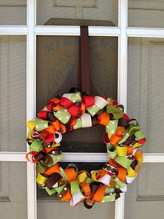 A simple and lovely fall idea  A perfect reason to go through the ribbon aisle at Michael's!