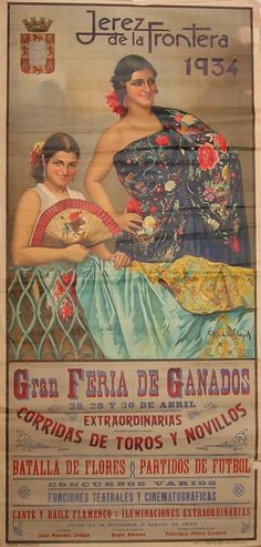 Cartel anunciador de la Feria de Jerez de la Frontera de 1934