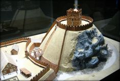 Model of a Motte and Bailey. Click the link to learn more Castle Facts.