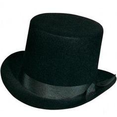 chapeau haut de forme mariage homme satin adulte fete soiree de luxe evénement