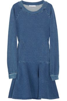 See by Chloe Denim-effect cotton-blend jersey dress, $400.  Looks oh so comfy!