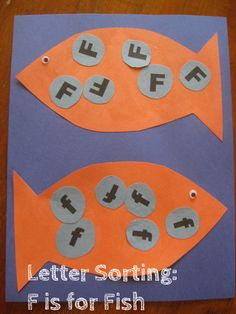 letter sorting f is for fish alphabet activities for kids