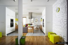 Interior Design Magazine: A Warsaw Apartment Equal Parts Colorful and Minimal designed by Widawscy Studio Architektury Modern Apartment Decor, Apartment Walls, Small Apartment Interior, Colorful Apartment, Family Apartment, Studio Apartment, Interior Design Magazine, Modern Room Design, Lovely Apartments