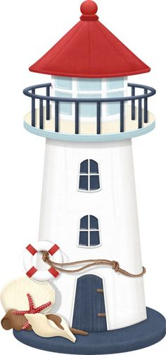 Lighthouse template for group Beach Crafts, Diy And Crafts, 3d Cuts, Nautical Clipart, Beach Clipart, Decoration Creche, Sailor Theme, Lighthouse Art, Lighthouse Clipart