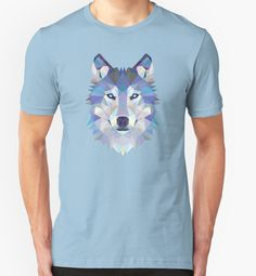 Game Of Thrones Polygonal Dire Wolf   RedBubble Unisex Light Blue TShirt   All Sizes Available for Men and Women @redbubble