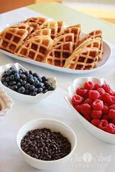 One Sweet Appetite: Waffle Bar Baby Shower