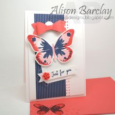 Gothdove Designs - Alison Barclay - Stampin' Up! Australia - Stampin' Up! Watercolor Wings #stampinup #watercolor #butterflies #InColors #stampinupaustralia #inspirecreateshare2015 @stampinup
