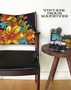 vintage boho chic chair makeover, reupholster with a dress....