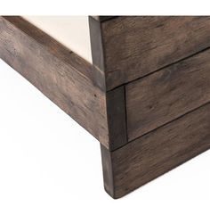 Watson Modern Rustic Lodge Chunky Wood Oak Square Arm Chair