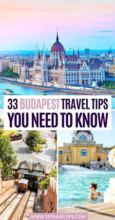 The Hungarian capital in the heart of Europe will enchant you with its diversity. The following 33 Budapest travel tips will help make your visit unforgettable.   Budapest travel guide   Visit Budapest Hungary tips Road Trip Europe, Europe Travel Guide, Europe Destinations, Honeymoon Destinations, Travel Guides, Visit Budapest, Budapest Hungary, Budapest Travel Guide, Hungary Travel