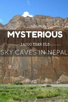 Sky Caves in Mustang Nepal