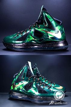 """Emerald LeBron X's - Diversitile """"LeBron X"""" #nikes #basketball #shoes #nike #sneakers #nike online #lebron #james #x lebrons 10 #lebron shoes #cheap lebrons #lebron for sale #new lebrons 2014 save up to 80% off"""