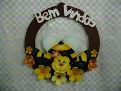 Guirlanda abelhinha country flor eva