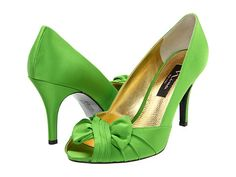 Nina Forbes Peep Toe Pump in Apple Green. So cute!