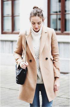 camel coat | polienne