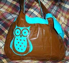 A duck tape purse... With an owl on front :D