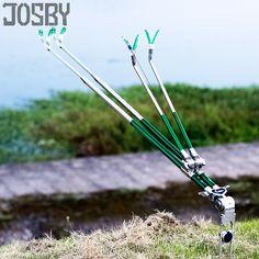 2Pcs Booms Fishing RH4 Bank Ground Rod Aluminium Folding Simple Pole Holder