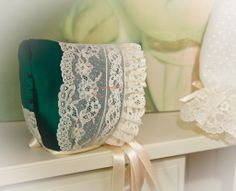 Colección d en plumetty 100% algodón  encajes de alençon, y shantu de seda natural verde esperanza, ,http://lacomodadepilar.blogspot.com.es/