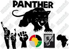 Black panther party logo tattoo - photo#8