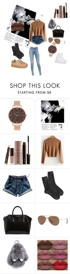 """Chilling"" by dominiquebambi ❤ liked on Polyvore featuring Olivia Burton, Laura Mercier, American Eagle Outfitters, Givenchy, Tom Ford, Puma, Kylie Cosmetics and Hudson Jeans"