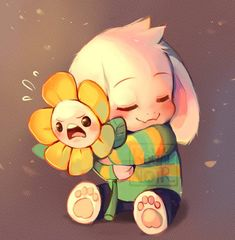 Asriel and FloweyBy Kamzeet on tumblr (I believe) #Undertale