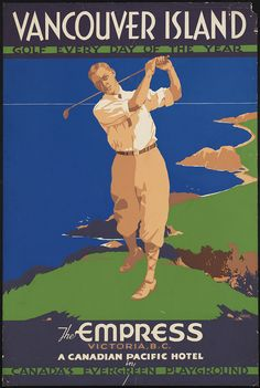 Vancouver Island, British Columbia.Vintage Travel Poster (1910-1959)