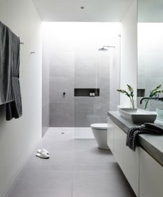 Luxury Bathroom Master Baths Wet Rooms is no question important for your home. Whether you choose the Small Bathroom Decorating Ideas or Luxury Bathroom Master Baths Benjamin Moore, you will make the best Luxury Master Bathroom Ideas for your own life. Ensuite Bathrooms, Laundry In Bathroom, Budget Bathroom, Bathroom Remodeling, Vanity Bathroom, Shower Bathroom, Shower Rooms, Bathroom Grey, Shower Walls