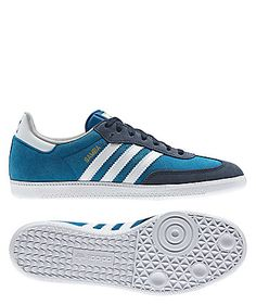 "Shoes ""Samba"" by adidas  #shoe #blue #sports #engelhorn  www.sport.engelhorn.de"