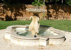 Cast Stone Landscaping Fountain and Statue