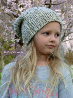 Kids Hipster Slouch Beanie MANY COLORS, Kids Hats, Toddler Hats, Girls Slouchy Hat, Children's Knit Beanie, Slouch Beanie, Knit Toddler Hat