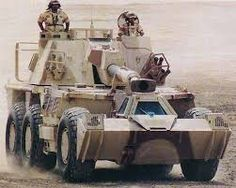 As an example of the gun's accuracy, at of the maximum range the probable error specification is of the range value and in deflection. Army Day, Armored Vehicles, Military History, Cannon, Military Vehicles, Guns, African, War, Southern