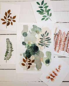 From today's studio sesh. Botanical studies that I hope will help me complete more paintings! Finished the bigger piece in the middle today so we're off to a good start 😊🌿 ⠀⠀ Watercolor Sketchbook, Abstract Watercolor, Watercolour Painting, Painting Tips, Abstract Paintings, Painting Art, Watercolors, Illustration Inspiration, Illustration Art