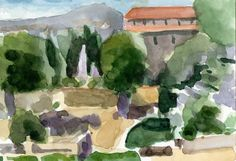 Anthony Lombardi  Villa D'Este 02 Tivoli  watercolour on paper 2014 18 x 12,5 cm