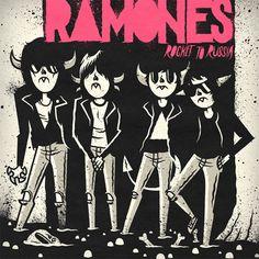 RAMONES - ROCKET TO RUSSIA | Illustrator: Daniel Bressett - http://clearlywrong.tumblr.com