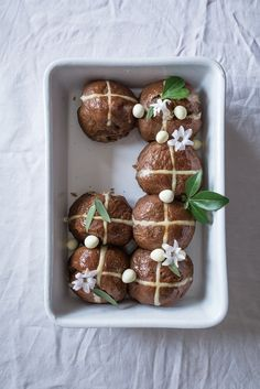 Mocha Hot Cross Buns