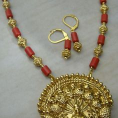 Laxmi necklace set -147(temple jewellery) - Online Shopping for Jewellery Sets by Radha's Creations
