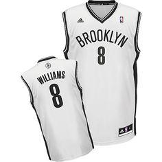 Adidas NBA Brooklyn Nets 8 Deron Williams New Revolution 30 Home Swingman White  Jersey Adidas Nba 9afdd58a1