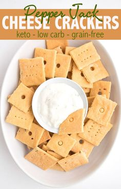 Delicious Keto Pepper Jack Crackers. Made fathead style, with melted cheese and almond flour. Easy and delicious and perfect keto snacking! #ketodiet #ketosnacks #ketorecipes #ketogenic #fathead #pepperjack Keto Foods, Keto Approved Foods, Keto Snacks, Keto Meal, Pan Cetogénico, Galletas Keto, Pain Keto, Aperitivos Keto, Low Carb Crackers