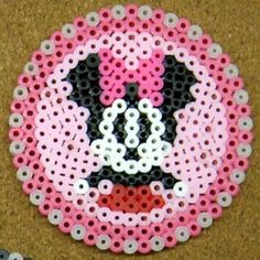 Minnie Mouse coaster perler beads by tentenyama