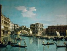 Canaletto- The Rialto Bridge, Venice