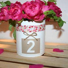 Vase pour décoration table mariage champêtre boheme liberty